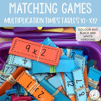 Multiplication Times Tables Matching Game