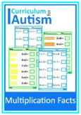 Multiplication Times Tables Worksheets Autism Special Education