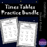 Multiplication Times Tables Practice Bundle