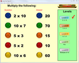 Multiplication Times Tables Quick Questions Practice