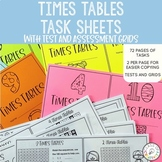 Multiplication Times Tables Worksheets and Tests