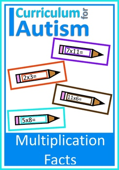 Times Tables Multiplication Facts, Autism, Special Education, Math Center