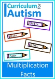 Times Tables Multiplication Facts Autism Special Education