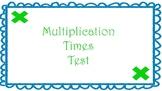 Multiplication Times Test