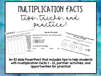 Multiplication Tips, Tricks, and Practice