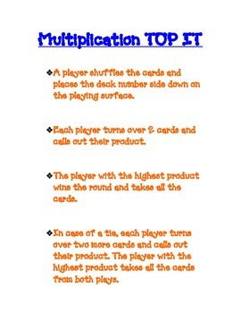 Multiplication Top It