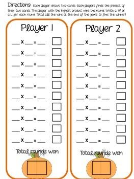 Multiplication Top-It