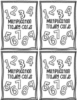 Multiplication Trading Cards