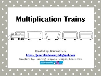 Multiplication Trains Black & White