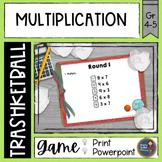 Multiplication Trashketball Math Game