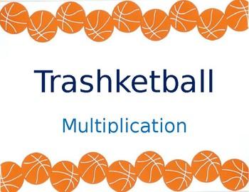 Multiplication Trashketball game