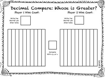 Decimal Comparison Game