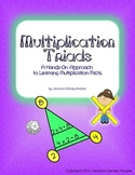 Multiplication Triads - Work Pages and Game - Multiplication Fact Families