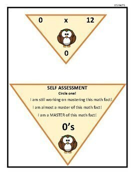Multiplication Triangle Flash Cards (Facts 0-12)