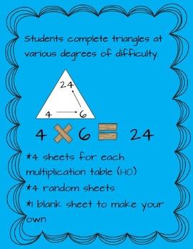 Multiplication Triangle Practice