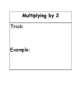 Multiplication Tricks Booklet