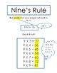 Multiplication Tricks Print Out for 6's and 9's