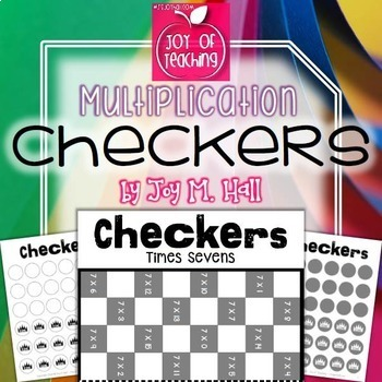 "Multiplication ""Trouble"" Facts Checkers Game FREEBIE - 6s, 7s, and 8s"