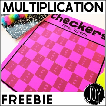 "Multiplication ""Trouble"" Facts Checkers Game FREEBIE - 6s,"