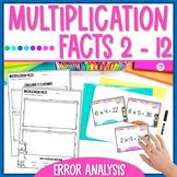 Multiplication Facts Task Cards - Error Analysis
