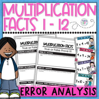 Multiplication True or False? Prove It! Task Cards