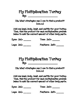 Multiplication Turkey