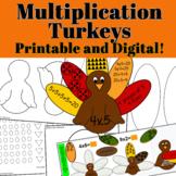 Multiplication Turkeys Craftivity - Come with Printable an
