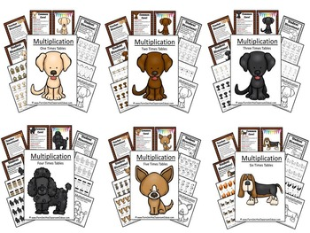 Twelve Pack of Quick and Easy To Prep Multiplication Center Games and Printables