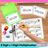 4th Grade Math: Two Digit Multiplication Task Cards: Math