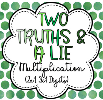 Multiplication - Two Truths & A Lie Task Cards