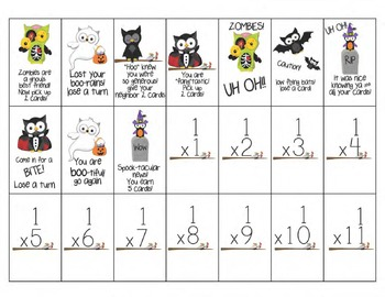 Multiplication UH OH! Card Game