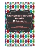 Multiplication Unit Bundle TEKS 4.4C -Interactive Notebook -  15 Lessons