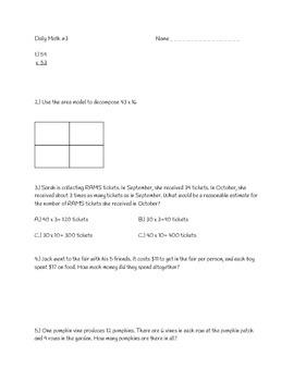 Multiplication Unit Review CC