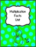 Math Multiplication Units 1 - 12