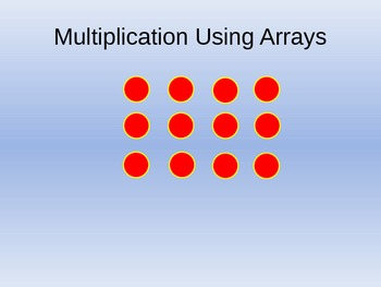 Multiplication Using Arrays Teaching PowerPoint