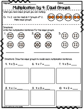 Multiplication: Using Strategies to Multiply by 4