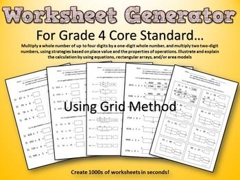 Multiplication Using The Grid Method