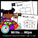 Multiplication Using the Area Model Task Cards