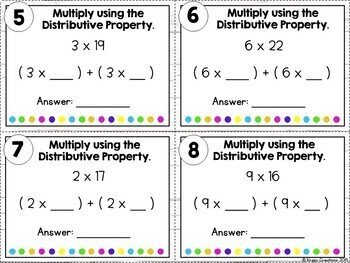 Multiplication Using the Distributive Property