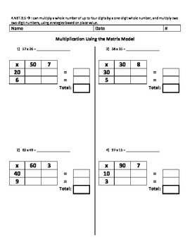 Multiplication Using the Matrix Model