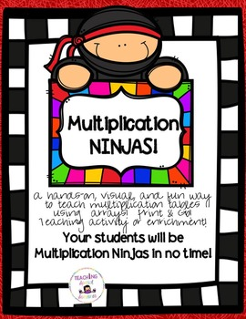 Multiplication: Visual, Concrete Learning Tool & Flash Cards
