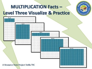 Multiplication - Visualize and Practice - Level Three