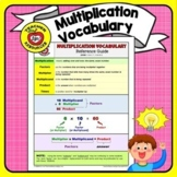 Multiplication Vocabulary:  Reference Guide (Color AND B&W!)