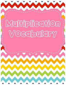 Multiplication Vocabulary