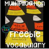 Multiplication Vocabulary Candy Corn Match Up Freebie