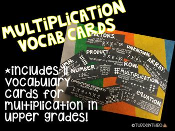 Multiplication Vocabulary Cards
