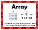 Multiplication  My Math 3rd Grade Vocabulary Posters
