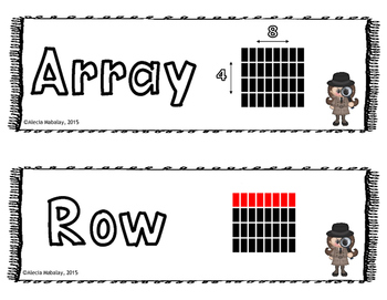 Multiplication Vocabulary Posters