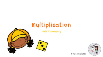 Multiplication Vocabulary PowerPoint and Student Notes