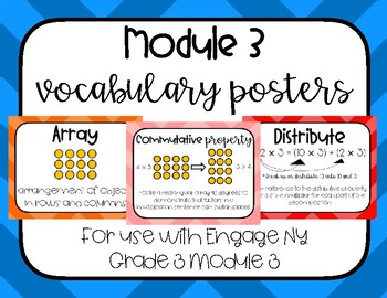 Multiplication Vocabulary Word Wall Engage NY Grade 3 Module 3